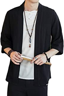 GladiolusA Herren Japan Happi Kimono Haori Jacke 3/4 Ärmel