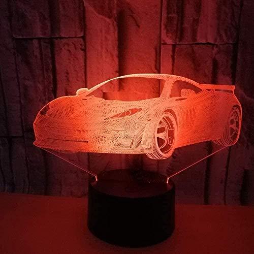 Tatapai Estéreo 3D dibujos animados animación noche luz LED colorido gradiente táctil control remoto lámpara de escritorio USB mesa mesa creativa regalo de cumpleaños decoración luz deportes coche