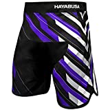 Hayabusa Metaru Charged Loose Fit MMA Fight Shorts - Black/Purple, 30
