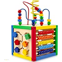 Play22 5 in 1 Baby Activity Cube with Bead Maze
