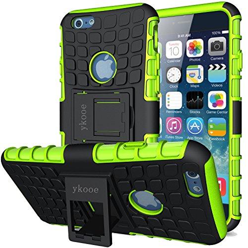 ykooe Handyhülle kompatibel für iPhone 6 Hülle, (TPU Series) iPhone 6 Dual Layer Hybrid Handy Schutzhülle mit Ständer für iPhone 6 und 6s [4,7 Zoll]