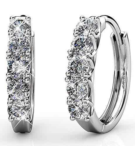 Yolora Swarovski kristal oorbellen - Zilver kleurig - Dames - YO-043