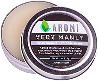 Very Manly Solid Cologne by Aromi   Men's Fragrance, Vegan Cologne, Cruelty-free Fragrance   1.0 ounce