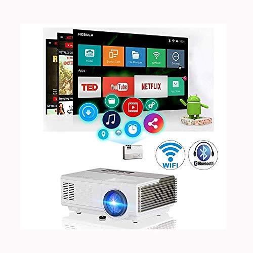 GaoF Proiettori LCD Supporto HD 1080P Wireless WiFi Bluetooth Videoproiettore Supporto Hdmi USB Vga Av Speaker Home Theater