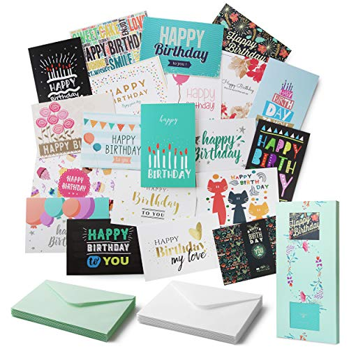 Mr. Pen- Birthday Cards, 20 Pack, Birthday Cards with Envelopes, Blank Inside Birthday Cards, Assorted Birthday Cards, Happy Birthday Cards Bulk, Birthday Card Assortment, Box of Birthday Cards …