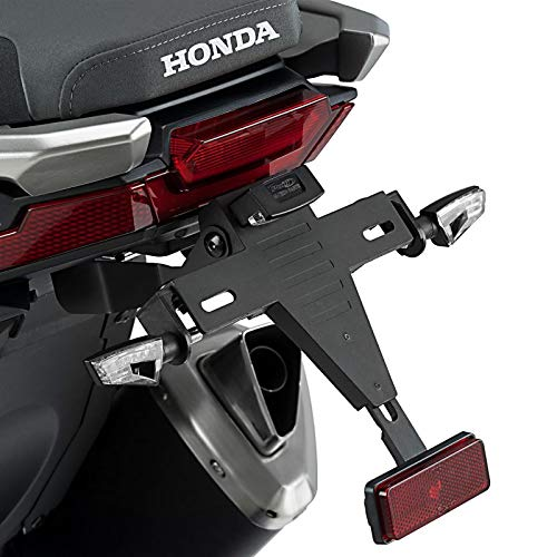 Porta Targa + Luce per Honda X-ADV 17-18 nero Puig 9706n