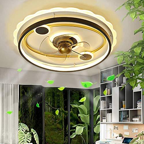 Ventilador de techo con iluminación Led Ventilador invisible Luz de ventilador de creatividad ajustable Luz de techo con iluminación Dormitorio Ventilador silencioso