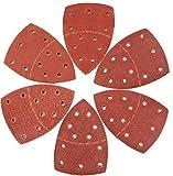 60 fogli abrasivi per levigatrice per mouse, adatti per Bosch Multi-Sander PSM 100A, PSM 200 AES, PSM 18 e tutti gli utensili oscillanti, 10 pezzi ciascuno assortiti 40/60/80/120/180/240