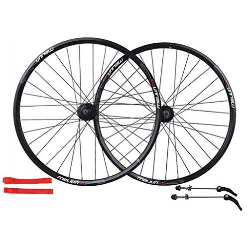 Zatnec Ruedas de ciclismo de 26 pulgadas, rueda de freno de disco de bicicleta de montaña Juego de rodamientos Palin de liberación rápida 7/8/9/10 velocidad solo 1560 g (color: E)