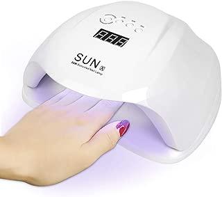 UV Nail Lamp,54W UV Led Nail Dryer with 4 Timer Setting & Sensor For Gel Nails and Toe and Nail Curing