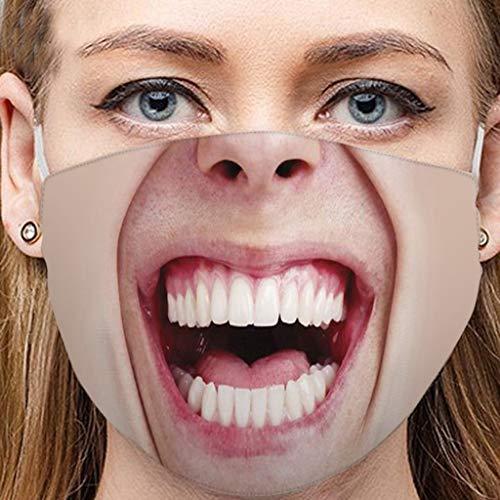 Fannyfuny Unisex Mundschutz Mund- und Nasenschutz Mundschutz mit fun Motiv Waschbar Wiederverwendbar für Herren Damen