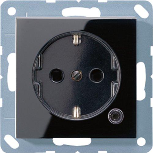 Jung A520KOSW SCHUKO-stopcontact met functieindicator
