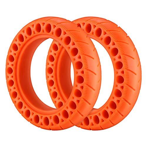 Sankuai Neumático de Scooter eléctrico Neumático Exterior de neumáticos Anti pinchado Anti punción de choques Que Absorbe los neumáticos Traseros Rojos para X-I-A-O-M-I M365 Partes