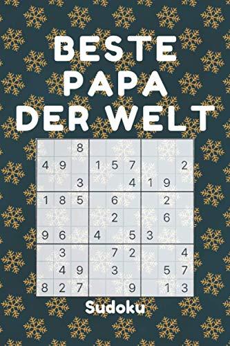BESTE PAPA DER WELT - Sudoku: 240 Sudoku-Rätsel inkl. Lösungen | Leicht-schwer | - kleine Geschenke für väter zu weihnachten Geburtstag - weihnachtsgeschenke für männer vater