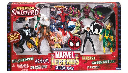 Marvel Legends Action Figure Boxed Set SpiderMan vs. The Sinister Six image