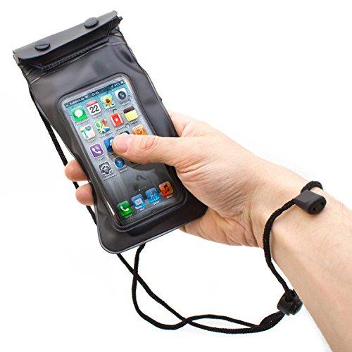 GOODS+GADGETS Wasserfeste Handy Schutzhülle Tasche für Smartphone Digitalkamera (wasserdicht bis 3m; Staub- & Sandschutz). Inklusive wasserdichter Kopfhörer!