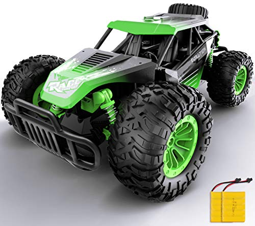 Gizmovine Remote Control Car, 1:14 Large Size High Speed Racing Off Road RC Cars with 2 Rechargeable Batteries, Waterproof RC Monster Trucks Electric Toy Vehicle Drift Car for Boys Teens Adults