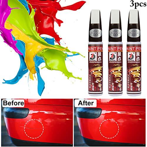 3PCS Scratch Penne Riparazione Touch-up Scratch Remover Repair Penne Scratch Fillers per Auto (White)