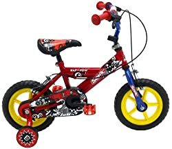 Sturdy 8 1/2 inch steel frame with unicrown front fork and 12 inch LDPE plastic wheels with puncture-free solid rubber tyres Twin calliper brakes with adjustable easy-reach levers and height adjustable hi-rise handlebars with streamers Padded comfort...