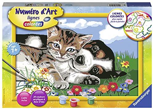 Ravensburger – Numéro d'art grand format – Une belle amitié – loisir créatif – kit de peinture acrylique – activite détente – enfant dès 7 ans – 28916