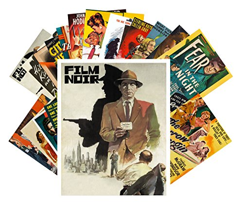 24 Postkarten Film Noir Vintage Movie Poster Hardboiled Detective