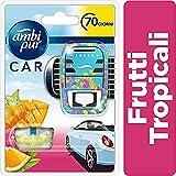 Ambi Pur Car Al Profumo Frutti Tropicali Starter Kit Deodorante Auto, con Clip 7 ml, per Eliminare gli Odori Sgradevoli dall'Auto, 1 Pezzo