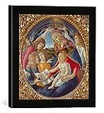 Gerahmtes Bild von Sandro Botticelli Maria mit Kind und