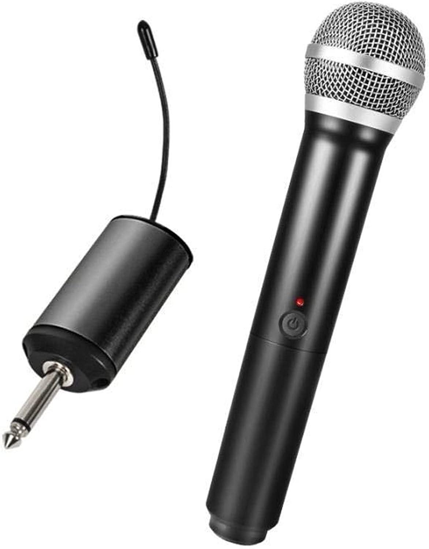 Micrófonos Micrófono inalámbrico de karaoke KTV Karaoke Player Echo System Digital Sonido Audio Mezclador Cantante Máquina de mano Micrófono de mano, negro Micrófono Vocal ( Color : Black )