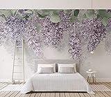 Papel Pintado Pared 3D Fotomurales Flor De Lister Wisteria Murales 3D Papel Tapiz Decorativos Wallpaper,400cmX280cm
