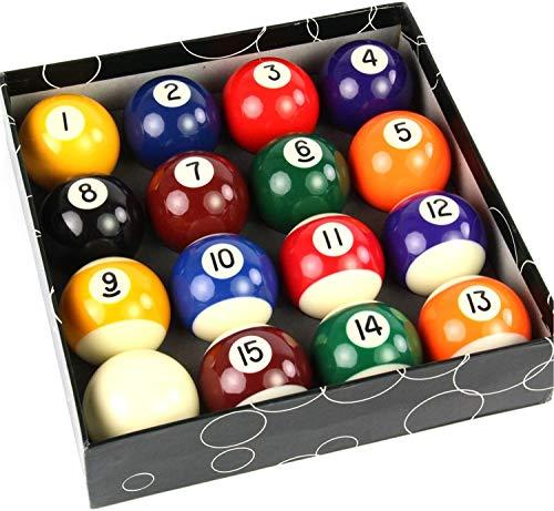 TGA Sports Billiards Pool Ball Set - Regulation Size 2-1/4