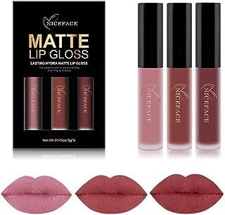 2019 Conjunto de 3 Colores de Pintalabios Mate Larga Duracion Labial Permanente Maquillaje de Profesional para Niñas por E...