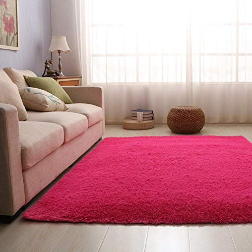 JYMDH Plush Modern Area Rugs Super Soft Rectangular For Living Room Shaggy Rug Thick Pile Non Slip Non Shed Floor Mat