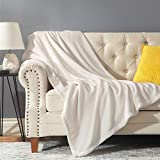 GDDREAM Mantas para Sofa de Franela,Manta para Cama 90 Reversible de 100% Microfibre Extra Suave,Manta Transpirable (Crema, 130x150 cm)