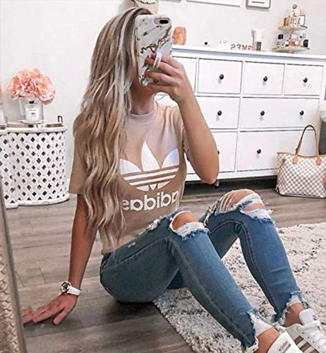 VEBONNY Platinum Blonde Lace Front Perücke mit braunen Wurzeln gewelltes Haar Perücke 24 Zoll