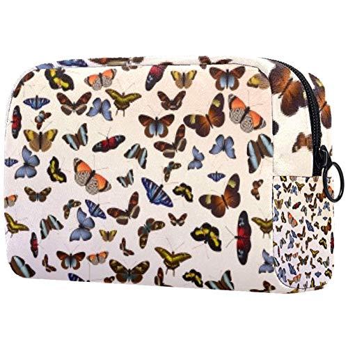 Bolsa de cosméticos para mujeres, vuelo de enjambre de mariposas, bolsas de maquillaje accesorios organizador regalos