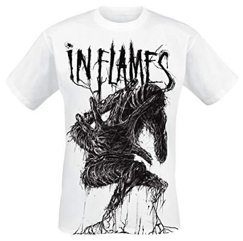 In Flames Big Creature Herren T-Shirt weiß XL 100% Baumwolle Regular