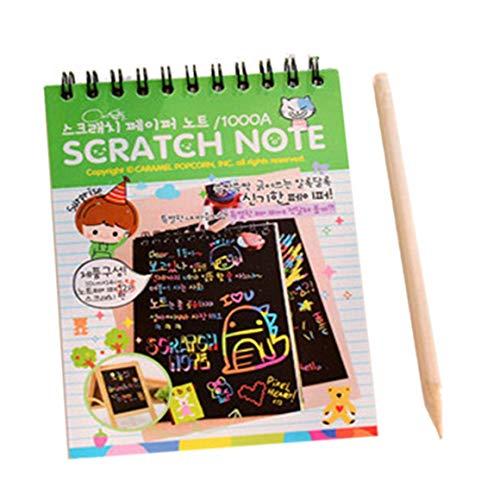 Paperllong® Y031 Creative Couleur DIY Bobine Scratch Photo Enfants Graffiti Croquis Livre Scratch Peinture Image Vert