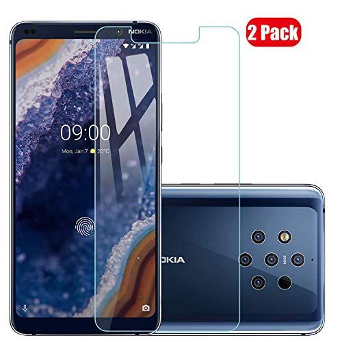 Voviqi Nokia 9 PureView Panzerglas, 9H verbesserte gehärtetes Glas Folie [Blasenfrei] [Anti-Fingerabdruck] Bildschirmschutzfolie für Nokia 9 PureView, 2 Stück