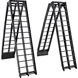 VEVOR Aluminum Ramps 9FT x 11.25 Inch ATV Ramps 1200LBS Capacity Truck Ramps for Car Motorcycle Loading Equipment with Attachment Hook and Serrated Rungs 1 Pair 2 Ramps