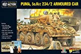 Bolt Action Puma Sd.Kfz 234/2 Armored Car 1:56 WWII Military Wargaming Plastic Model Kit