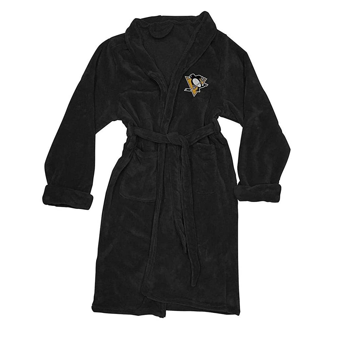 The Northwest Company NHL Pittsburgh Penguins Men's Bathrobe, One Size, Multicolor