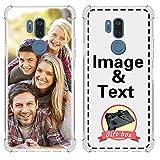 AIPNIS Coque Téléphone Personnalisée Compatible avec LG G7 ThinQ, Photo ou Texte Personnalisé...