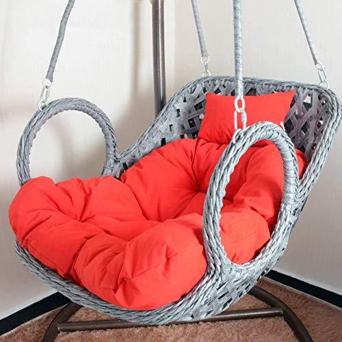 Columpio Colgante Silla Cojín Cojines para columpios, espesar, extraíble, nido de huevo, cojín para silla, sillón reclinable individual, cojín para silla, mimbre, mimbre, cesta colgante, cojín para s