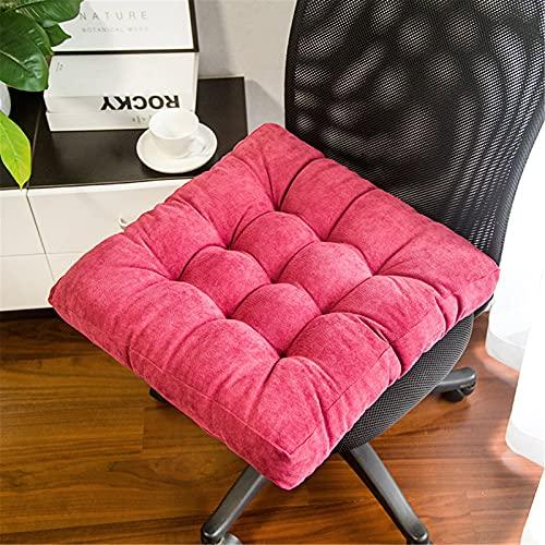 RAILONCH Cojín cuadrado para asiento de silla con acolchado grueso Tatami para el suelo, para interior y exterior (42 x 42 x 8 cm), color rojo