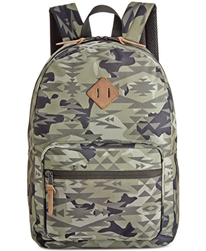 American Rag Mens Camo Everyday Backpack, green, Small (17 in. - 22 in.)