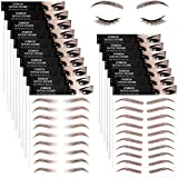 9 Sheets 4D Hair-Like Authentic Eyebrows Waterproof Eyebrow Tattoo Stickers Eyebrow Transfers Stickers Eyebrow...