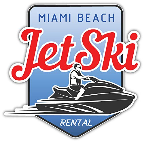 Jet Ski Verhuur Bumper Sticker Vinyl Art Decal voor Auto Truck Van Window Bike Laptop