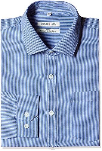 Excalibur Men's Formal Shirt (8907542556908_400016477917_40_Blue)
