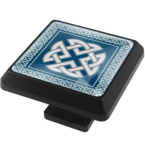 Square Knobs Celtic Knot Symbol Pulls Handles Cabinet Wardrobe Furniture Door Drawer Knobs Pulls Handles 3 Pack