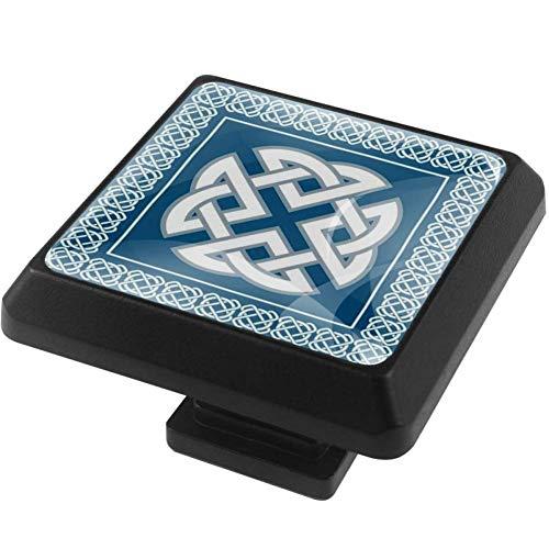 Square Knobs Celtic Knot Symbol Pulls Handles Cabinet Wardrobe Furniture Door Drawer Knobs Pulls Handles 3 Pack